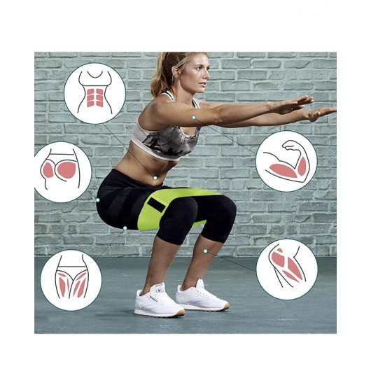 SOOFIT Size M 1 Piece Medium Level Neon Yellow Pilates, Fitness And Home Sports Squat And Exercise Resistance Band